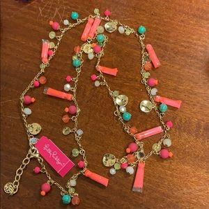 NWT Lilly Pulitzer Confetti Tassel Necklace